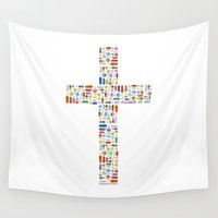 religion Wall Tapestries featuring My Religion Is You by Brad Ouellette Designs
