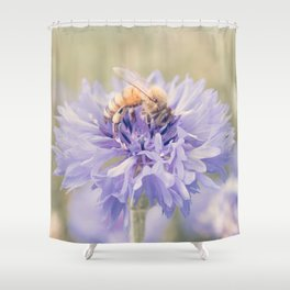 Anatomy of a Bee: Purple and Bee.3 Shower Curtain