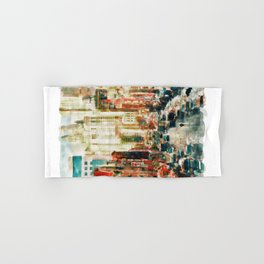Winter in Chinatown - New York Hand & Bath Towel