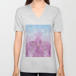 Abstract polygonal background Unisex V-Neck