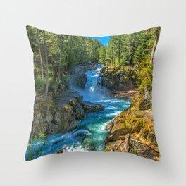 Silver Falls Mount Rainier National Park Washington United States Ultra HD Throw Pillow