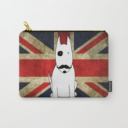 Great Britain Flag Bull Terrier Dog Black Eye Art Print Wall Decoration Wall Design Graphic Carry-All Pouch