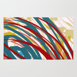 Chaotic Rosy Disorder Abstract Art Rug