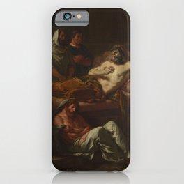 Eugne Delacroix - Last Words of the Emperor Marcus Aurelius iPhone Case