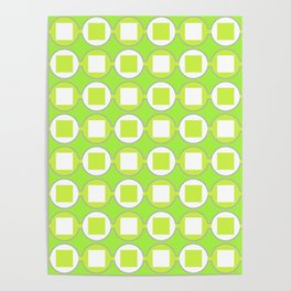 Lime Green Contemporary Bead Pattern Poster