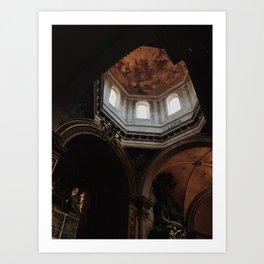 Peak of St Peter's Basilica Art Print