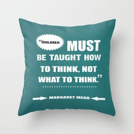 Famous Author Inspirational childrens Quote Throw Pillow