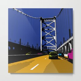 #2 Ben Franklin Bridge Metal Print
