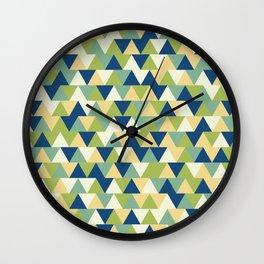 Rockpool Triangles Wall Clock