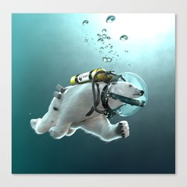 Polar Bear - The Way of the Future Canvas Print