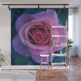 bed of roses: lilac Wall Mural