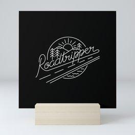 Roadtripper - white Mini Art Print