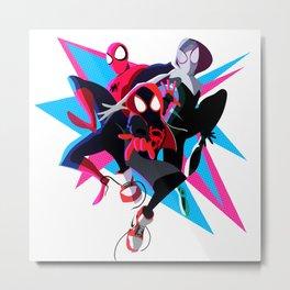 Spider-Man: Into The Spider-Verse Minimalist Metal Print