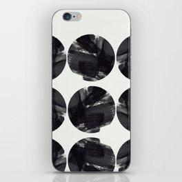 minimal brush stroke geometrical pattern iPhone Skin