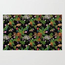 Animals of the Amazon jungle print Rug