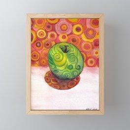 Watercolor Apple Framed Mini Art Print