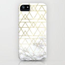 Gold Geometric Marble Deco Design iPhone Case