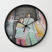 war Wall Clocks featuring  war  by helendeer