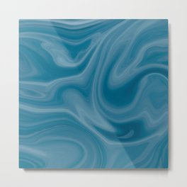Sea marble pattern Metal Print