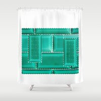 architecture Shower Curtains featuring ARCHITECTURE by BIGEHIBI