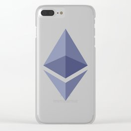 Ethereum Logo Clear iPhone Case