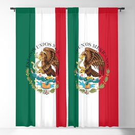 Mexican flag augmented scale with Coat of Arms Blackout Curtain