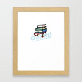 Get Lit Books Framed Art Print