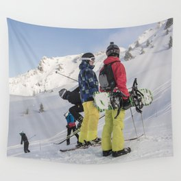 Skiers 2017 Wall Tapestry
