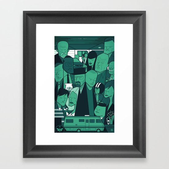 Breaking Bad (green version) Framed Art Print