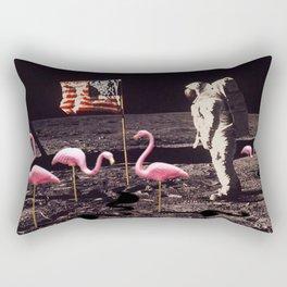 Astronaut And Flamingos on The Moon Rectangular Pillow