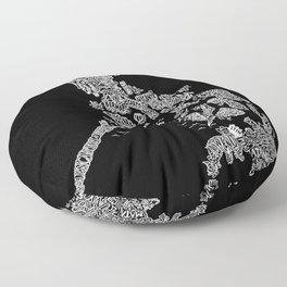 Paranormal Philippines (black) Floor Pillow