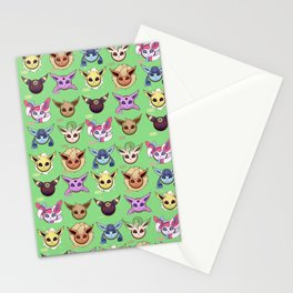 Eeveelutions Green Stationery Cards
