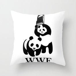 WWF Parody Throw Pillow