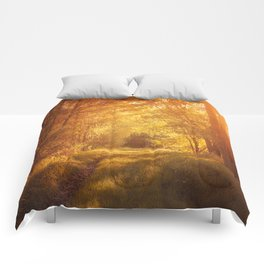 magical enchanted forest Comforters