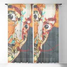 Salvador Dali Sheer Curtain