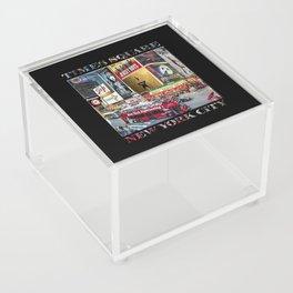 Times Square II (widescreen on black) Acrylic Box