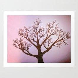 Pink Tint Tree Art Print