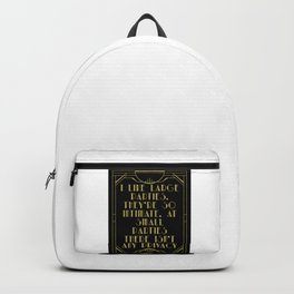 I like large parties - The Great Gatsby Backpack