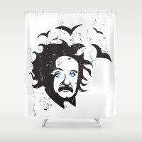 einstein Shower Curtains featuring Einstein by KaytiDesigns