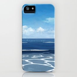 Amazing Seashore View Of Paradise Bay Cartoon Scenery Ultra High Resolution iPhone Case