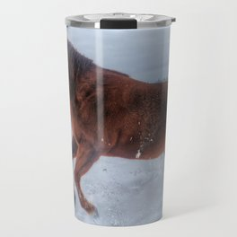 Fire and Ice - Equine Photography Travel Mug