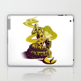 SnakeWoman and Demon-Skull Bong Laptop & iPad Skin