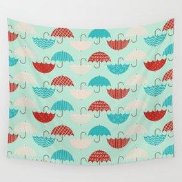 Umbrellas Wall Tapestry