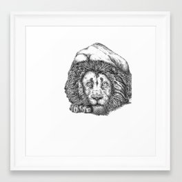 Playing or Pouncing Framed Art Print