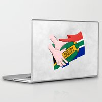 south africa Laptop & iPad Skins featuring South Africa Rugby by mailboxdisco