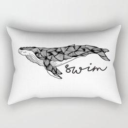 Humpback whale | Swim swim swim Rectangular Pillow