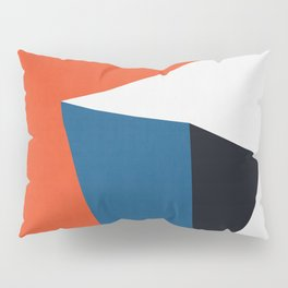 Blue and red composition XV Pillow Sham