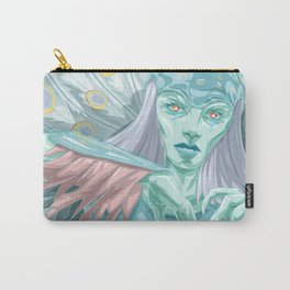 Glass Peacock Carry-All Pouch