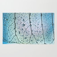 aqua Area & Throw Rugs featuring aqua by Ingrid Beddoes