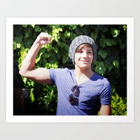 louis tomlinson Art Prints featuring Louis Tomlinson by Syydnacks